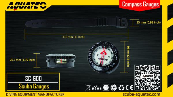 Scuba Compass Gauge